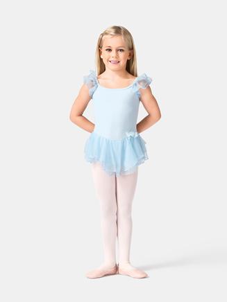 Girls Mesh Flutter Sleeve Dress - Style No PB401C