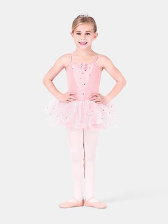 Girls Glitter Flower Camisole Tutu Dress - Style No PB412C