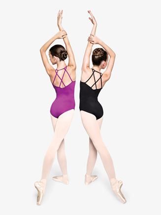 """Womens """"Determined"""" Strappy Back Camisole Leotard - Style No RPCC001"""