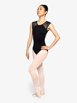 """Womens """"Poised"""" Back Cutout Short Sleeve Leotard - Style No RPCC005"""