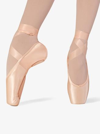 "Womens ""Superlative"" Split Sole Pink Satin Pointe Shoes - Style No S0176L"