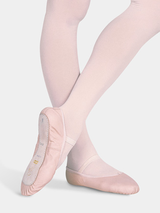 """Dansoft"" Child Full Sole Leather Ballet Slipper - Style No S0205G"