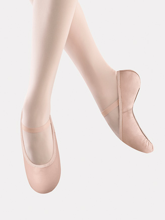 """Belle"" Child Full Sole Leather Ballet Slippers - Style No S0227G"