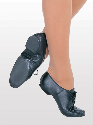 """Jazzsoft"" Child Lace Up Jazz Shoe - Style No S0405G"