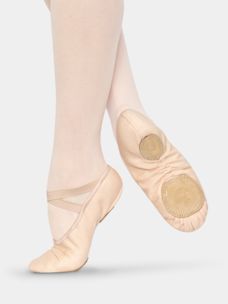 "Adult ""Tempo"" Canvas Split Sole Ballet Slipper - Style No S3017"