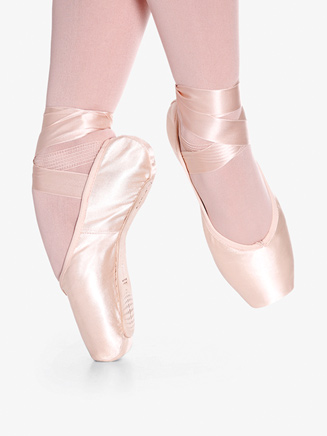 "Womens ""Toshie"" Pink Satin Pointe Shoes - Style No SD40V"