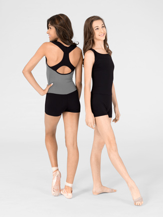 Adult Two-Tone Tank Shorty Unitard - Style No SIL87128