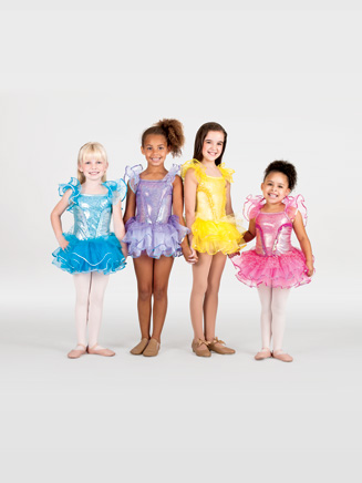 Child Tutu Costume Dress with Flutter Sleeves - Style No SK735