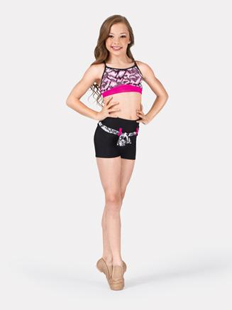 Girls High Waist Shorts with Belt  - Style No SSP008Cx