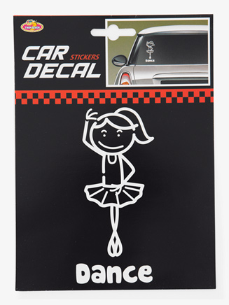 """Dance"" Car Sticker - Style No ST1400"