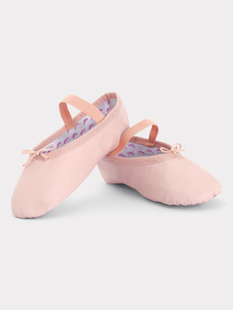 "Girls Full Sole Leather ""Princess"" Ballet Slipper - Style No T1015C"