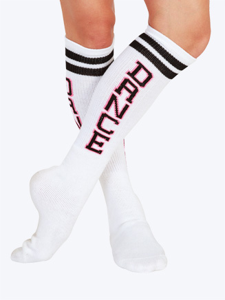 "Adult ""Dance"" Spirit Knee Socks - Style No T1418"
