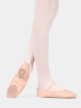 Child Split-Sole Leather Ballet Slipper - Style No T2700C