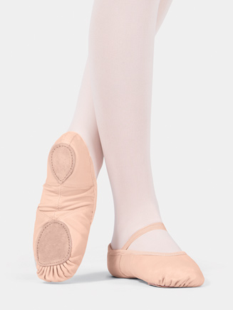 Child Split-Sole Neoprene Arch Leather Ballet Slipper - Style No T2800C