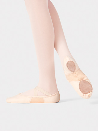 "Girls Canvas Stretch Split-Sole ""SofTouch"" Ballet Slipper - Style No T2915C"
