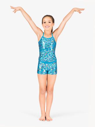 Girls Metallic Leopard Camisole Top - Style No TA3317x
