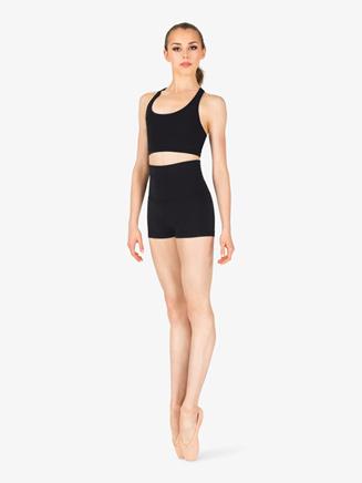 Womens Team Basics Wide Waistband Shorts - Style No TB242W