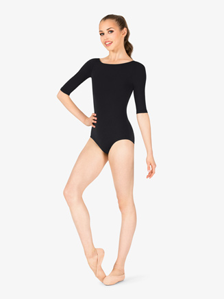 Womens Team Basics Low Back 3/4 Sleeve Leotard - Style No TB243W