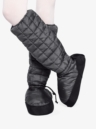 Womens Quilted Tall Warm-up Booties - Style No TBOOT