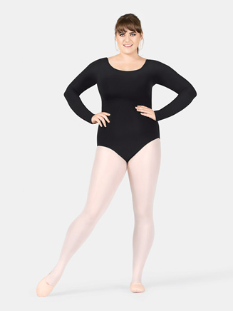 Adult Plus Size Long Sleeve Leotard - Style No TH5507W