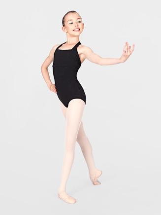 Child Cotton Blend Halter Dance Leotard - Style No TH5508C