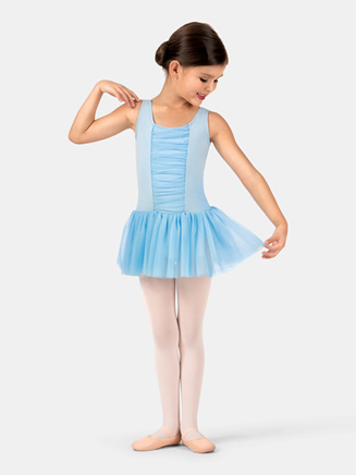 Child Gathered Tank Ballet Dress - Style No TH5523C