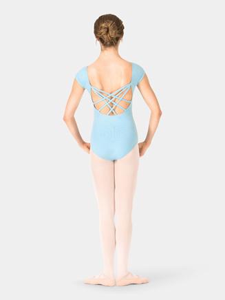 Adult Short Sleeve Triple Crisscross Back Leotard - Style No TH5524