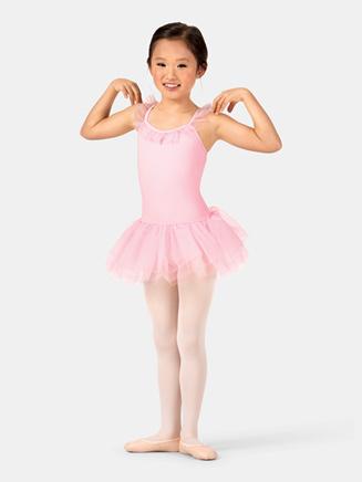 Child Ruffle Neckline Ballet Dress - Style No TH5530C