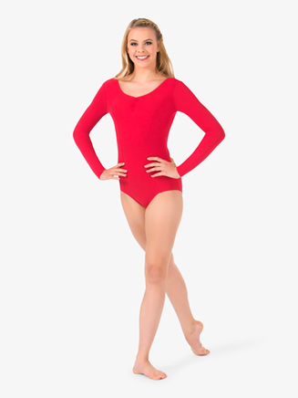 Womens Pinched Long Sleeve Leotard - Style No TH5534
