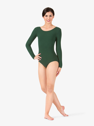 Womens Strappy Back Long Sleeve Leotard - Style No TH5536