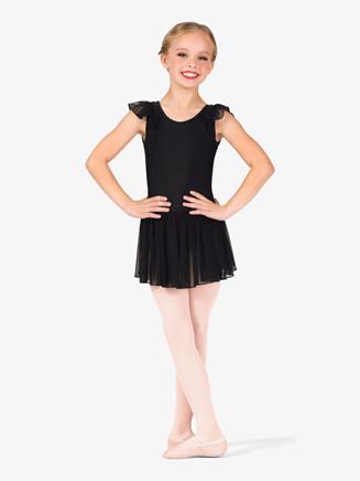 Girls Mesh Flutter Sleeve Ballet Dress - Style No TH5552Cx