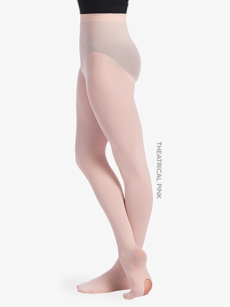 Girls Back Seam Convertible Dance Tights - Style No TS95