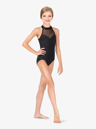 Girls Performance Twinkle Sequin Mesh Sweetheart Leotard - Style No TW320