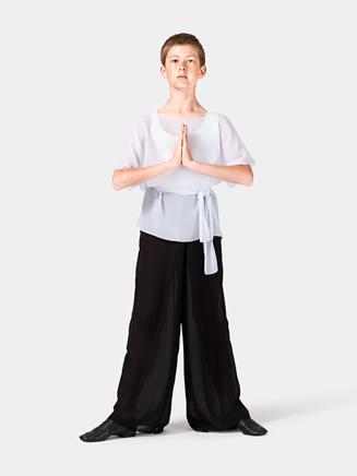 Child White Short Sleeve Worship Tunic - Style No WC102CWHT