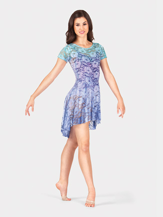 Adult Lace Bow Back Short Sleeve Dress - Style No WC208