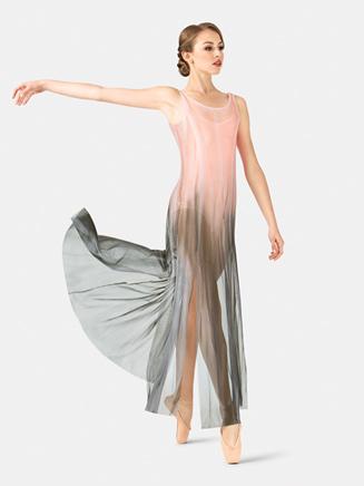 Adult Floor-Length Paneled Mesh Dress - Style No WC232