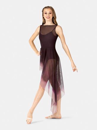Adult Painted Asymmetrical Side Drape Tank Dress - Style No WC233