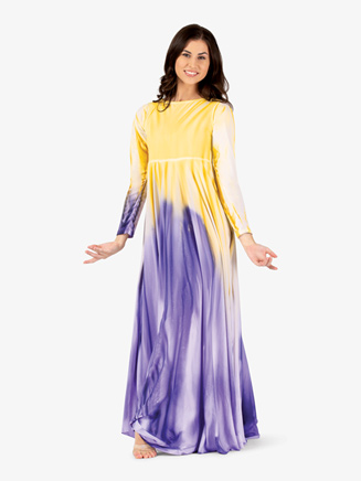 Womens Plus Size Painted Circle Worship Dress - Style No WC5190P