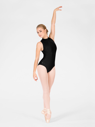 """Wallis"" Adult Mock Turtleneck Tank Leotard - Style No WM109"