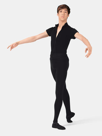 "Mens ""Condor"" Zip Front Leotard with Built-In Dance Belt - Style No WM122"
