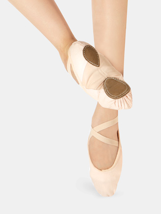 Adult Split-Sole Canvas Ballet Slipper - Style No WM128