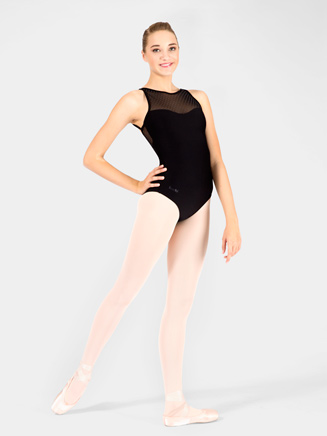 "Adult ""Merveille"" Swiss Dot Camisole Leotard - Style No WM133"