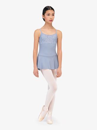 "Womens ""Violetta"" Embossed Camisole Ballet Dress - Style No WM204x"