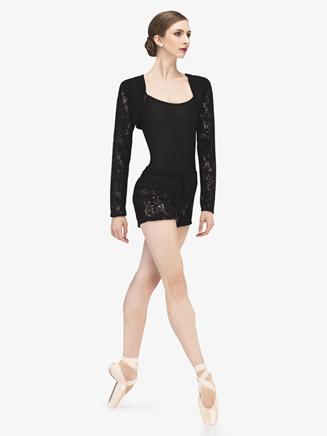 """Womens """"Fango"""" Knit Lace Warm Up Shorts - Style No WM207x"""