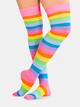 Adult Rainbow Thigh High Sock - Style No 6600