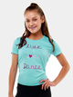 "Teen ""Live Love Dance"" Printed Short Sleeve Top - Style No 74001TW"