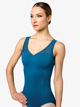 "Womens ""Venezia"" Stripe Mesh Tank Leotard - Style No L9895"