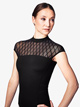 Womens Diamond Mesh Short Sleeve Leotard - Style No L9922