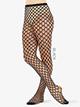 Womens Sharp Edge Fishnet Footed Dance Tights - Style No LA9983