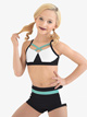 """Girls Lilly K """"Stamina"""" Color Block Dance Briefs - Style No LK403C"""